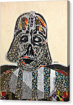 Canvas Print featuring the tapestry - textile Darth Vader Star Wars Afrofuturist Collection by Apanaki Temitayo M
