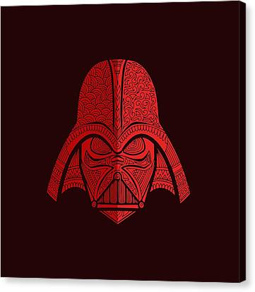 Movie Poster Canvas Print - Darth Vader - Star Wars Art - Red 02 by Studio Grafiikka