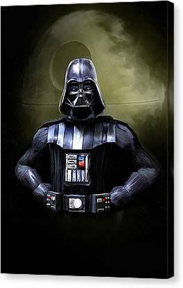 Movie Stars Canvas Print - Darth Vader Star Wars  by Michael Greenaway