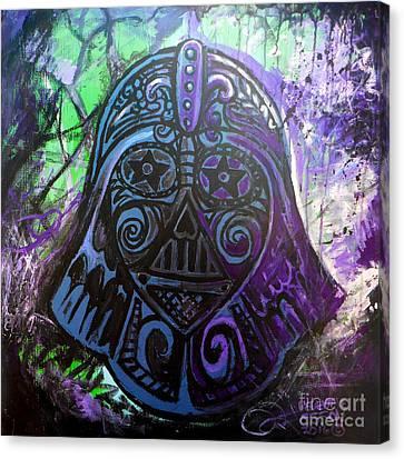 Darth Vader Sugar Skull Canvas Print