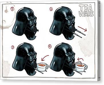 Canvas Print - Darth Vader Tea Drinking Star Wars by Martin Davey