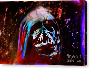 Darth Vader's Melted Helmet Canvas Print by Justin Moore