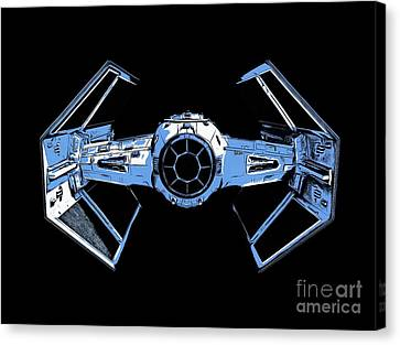 Darth Vaders Tie Figher Advanced X1 Tee Canvas Print by Edward Fielding