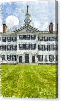 Dartmouth College Hanover New Hampshire Pencil Canvas Print by Edward Fielding