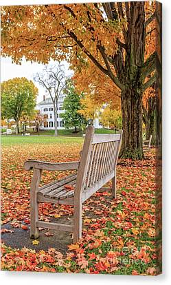 Dartmouth Hanover Green In Autumn Canvas Print by Edward Fielding