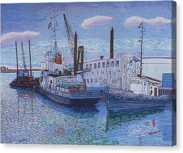 Dartmouth Marine Slips Canvas Print