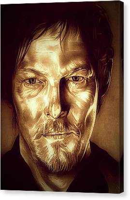 Daryl Dixon Canvas Print by Fred Larucci