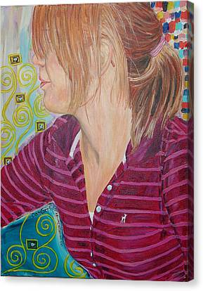 Canvas Print featuring the painting Das Girl by Kevin Callahan