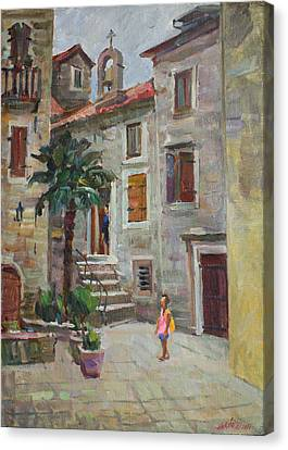 Dasha In The Old Town Canvas Print