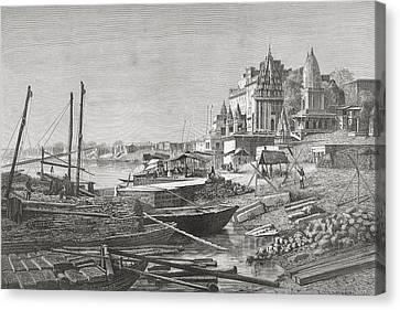 Dashashwamedh Ghat, Varanasi On The Canvas Print