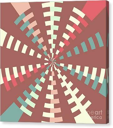 Dashed Vortex Canvas Print