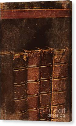 Canvas Print featuring the photograph Dated Textbooks by Jorgo Photography - Wall Art Gallery