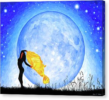 The Sacred Feminine Canvas Print - Daughter Of The Moon by Mark Tisdale