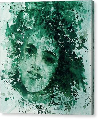 Canvas Print featuring the painting Daughter Of Nature by Laila Awad Jamaleldin