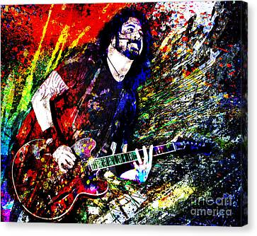 Roll Canvas Print - Dave Grohl Art  by Ryan Rock Artist