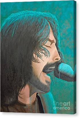 Dave Grohl Of The Foo Fighters Canvas Print by Cindy Lee Longhini