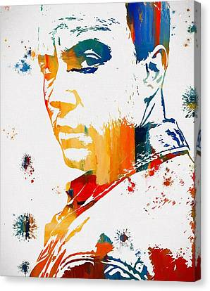 Dave Matthews Paint Splatter Canvas Print by Dan Sproul