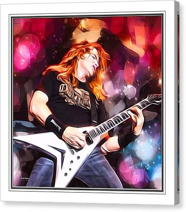 Dave Mustaine Border Print Canvas Print by Scott Wallace