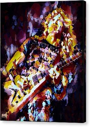 Dave Mustaine Abstract Canvas Print by Scott Wallace