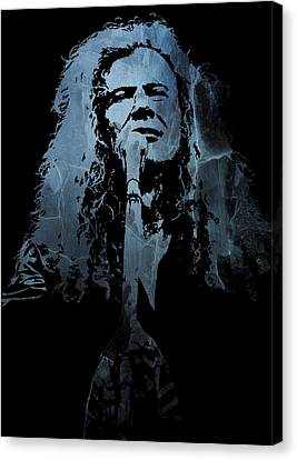 Dave Mustaine - Megadeth Canvas Print by Michael Bergman