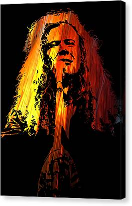 Dave Mustaine Canvas Print by Michael Bergman