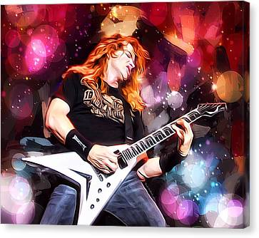 Dave Mustaine Portrait Canvas Print by Scott Wallace