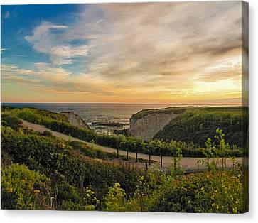Davenport Postcard Sunset Canvas Print by Larry Darnell