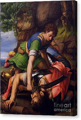 David And Goliath Canvas Print - David And Goliath by MotionAge Designs