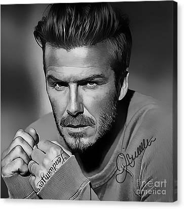 David Beckham Art Canvas Print by Kjc