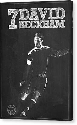 Wayne Rooney Canvas Print - David Beckham by Semih Yurdabak