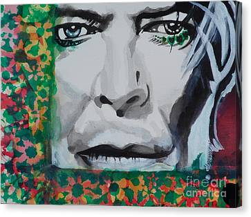 David Bowie 02 Canvas Print by Chrisann Ellis