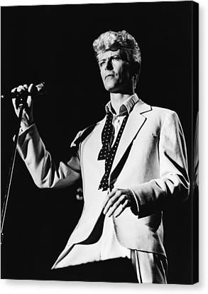 David Bowie 1983 Us Festival Canvas Print by Chris Walter