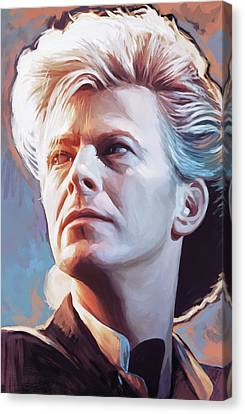 Canvas Print featuring the painting David Bowie Artwork 2 by Sheraz A