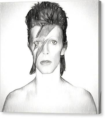 David Bowie Charcoal  Canvas Print