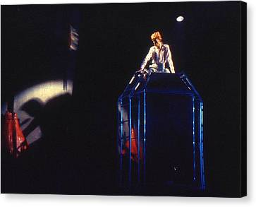 Canvas Print featuring the photograph David Bowie Diamond by Sue Halstenberg