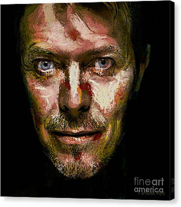 David Bowie Canvas Print by Dragica Micki Fortuna