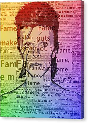 David Bowie Fame Canvas Print