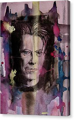 Canvas Print featuring the painting David Bowie by Geni Gorani