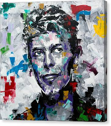 Canvas Print featuring the painting David Bowie II by Richard Day