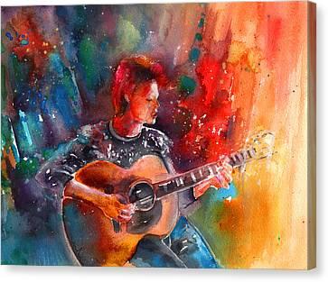 David Bowie In Space Oddity Canvas Print by Miki De Goodaboom