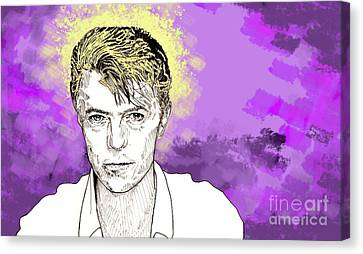 Canvas Print featuring the drawing David Bowie by Jason Tricktop Matthews