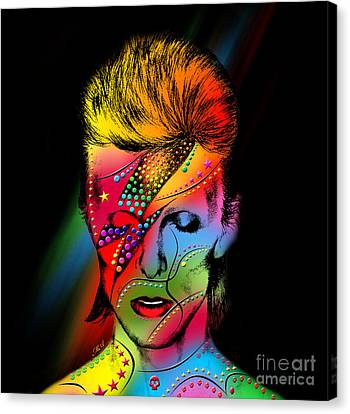Human Beings Canvas Print - David Bowie by Mark Ashkenazi