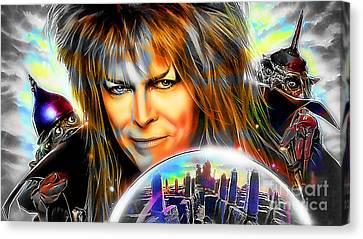 David Bowie Canvas Print - David Bowie by Marvin Blaine