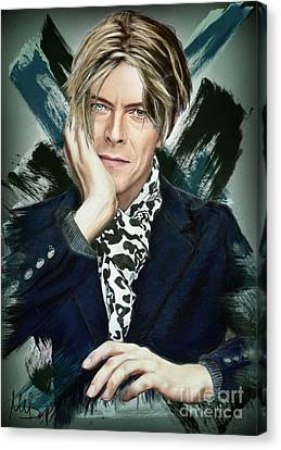 David Bowie Canvas Print by Melanie D