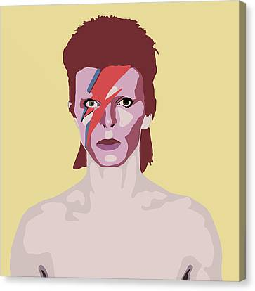 David Bowie Canvas Print by Nicole Wilson