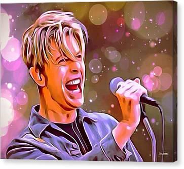 David Bowie Portrait Canvas Print by Scott Wallace