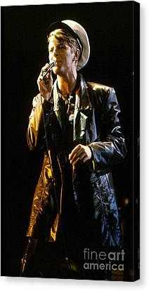 Canvas Print featuring the photograph David Bowie Sailor by Sue Halstenberg