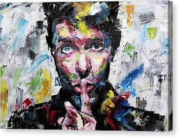 David Bowie Shh Canvas Print