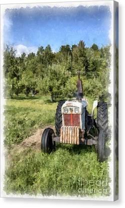 David Brown Case Vintage Tractor Canvas Print by Edward Fielding