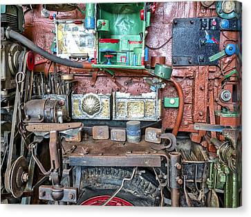 David Brown Tractor Side View Canvas Print by Steven Ralser